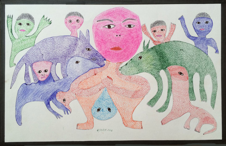 <strong>Untitled</strong> <br/> MU 10 / Ballpoint pen Colored pencil and marker on paper / 32 x 50 cm / 2014